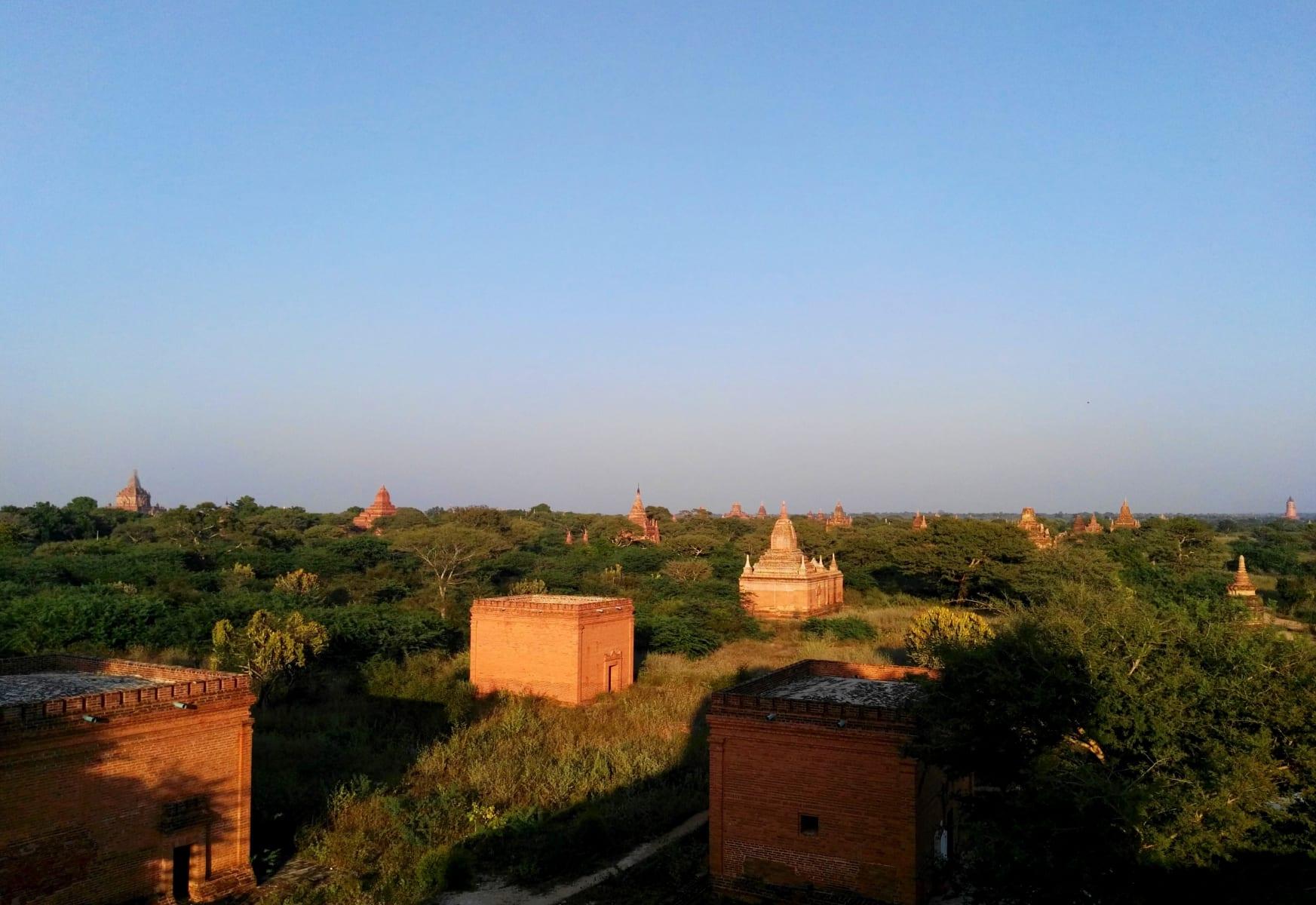 Výhled na Bagan, Myanmar