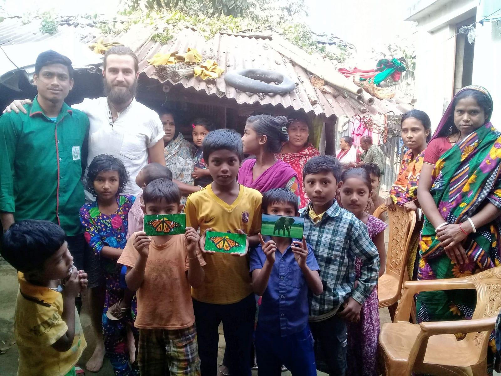Foto z hinduistického slumu, Bangladéš