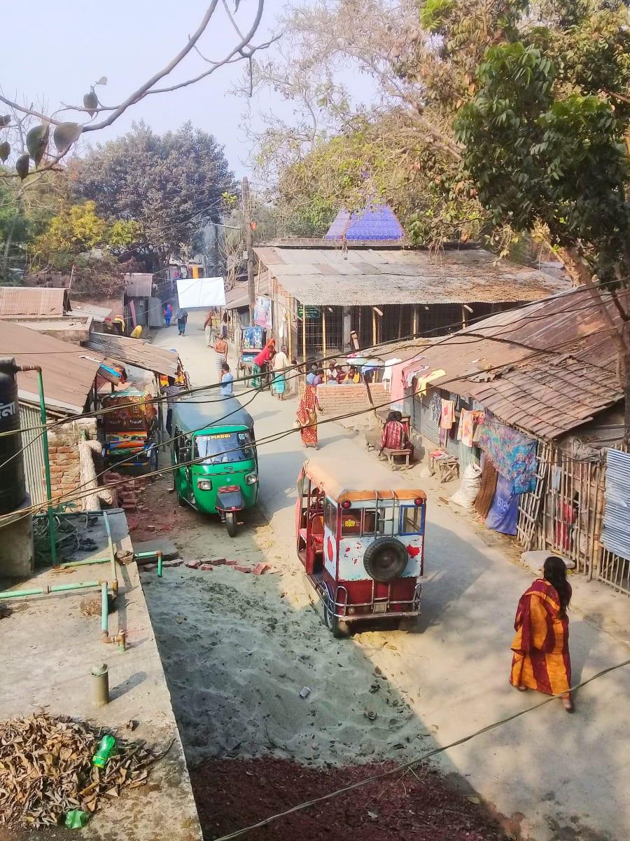 Hinduistický slum, Bangladéš
