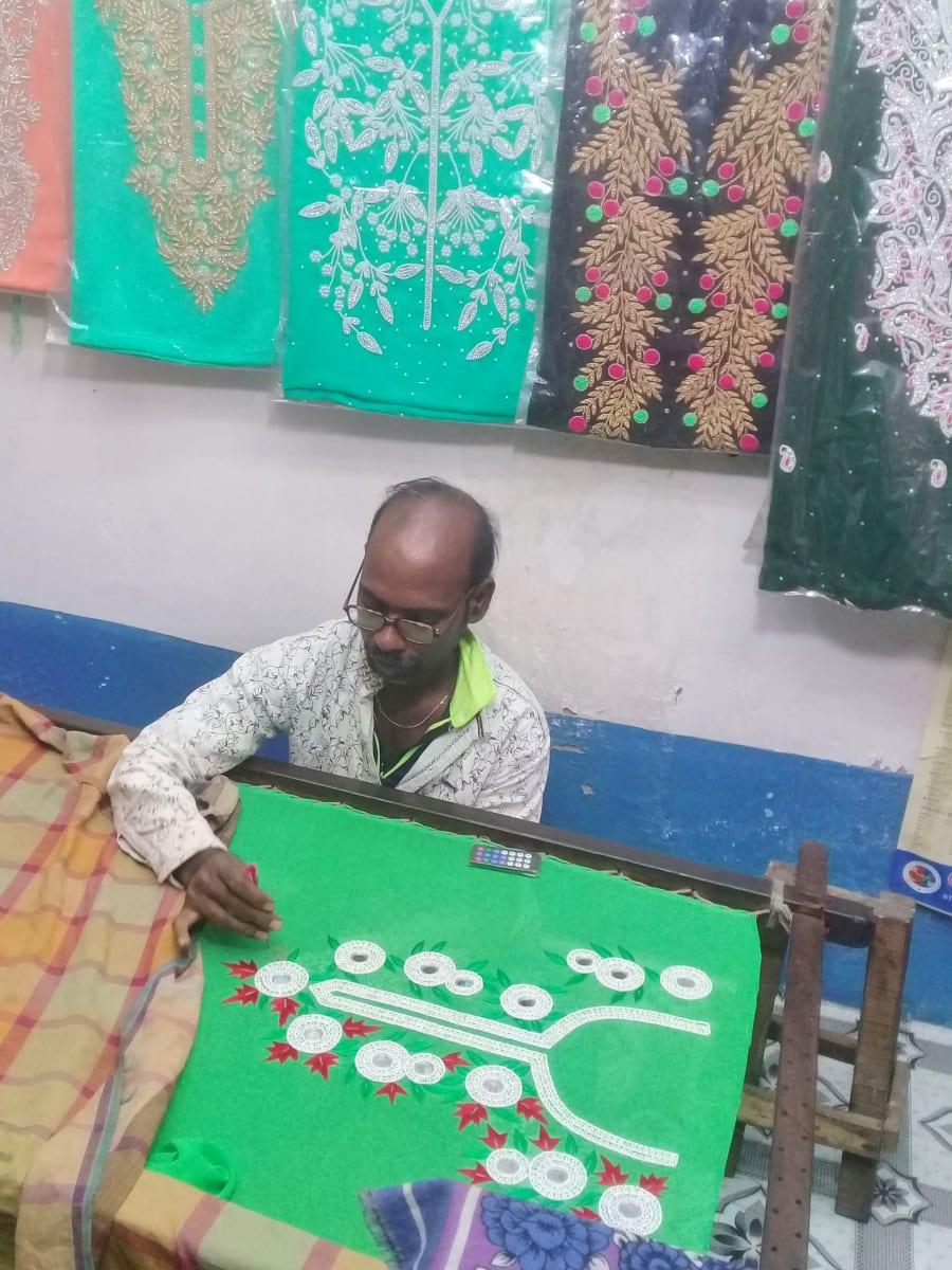 Tradiční bengálské řemeslo - ruční vyšívání, Bangladéš