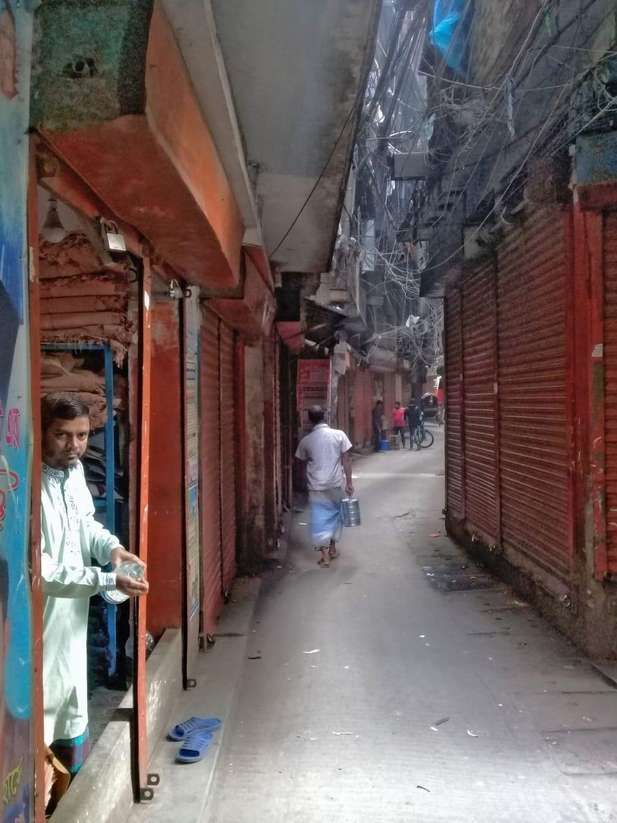 Uličky staré Dhaky, Bangladéš