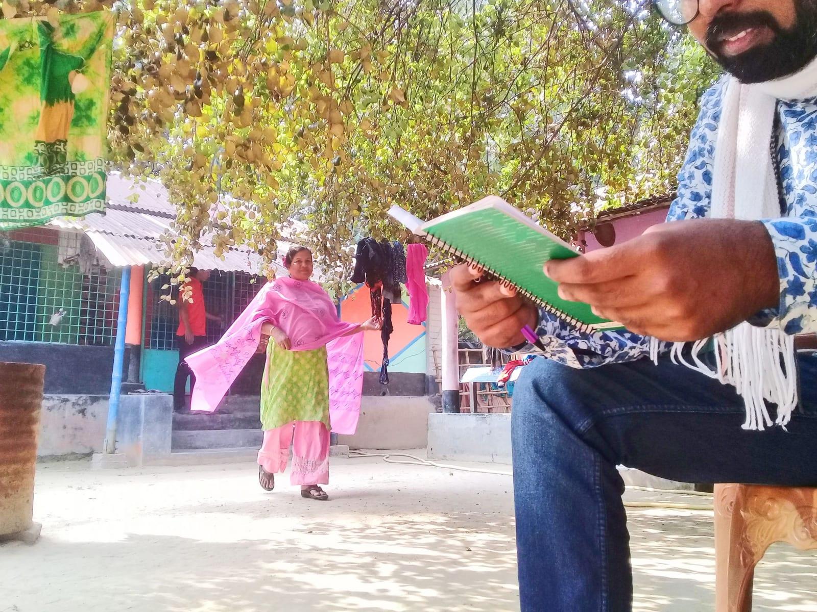 Setkání s úspěšnou podnikatelkou, AID Foundation, Bangladéš