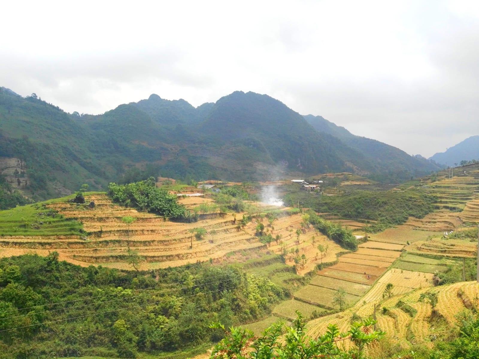 Vesnička u hranic s Čínou