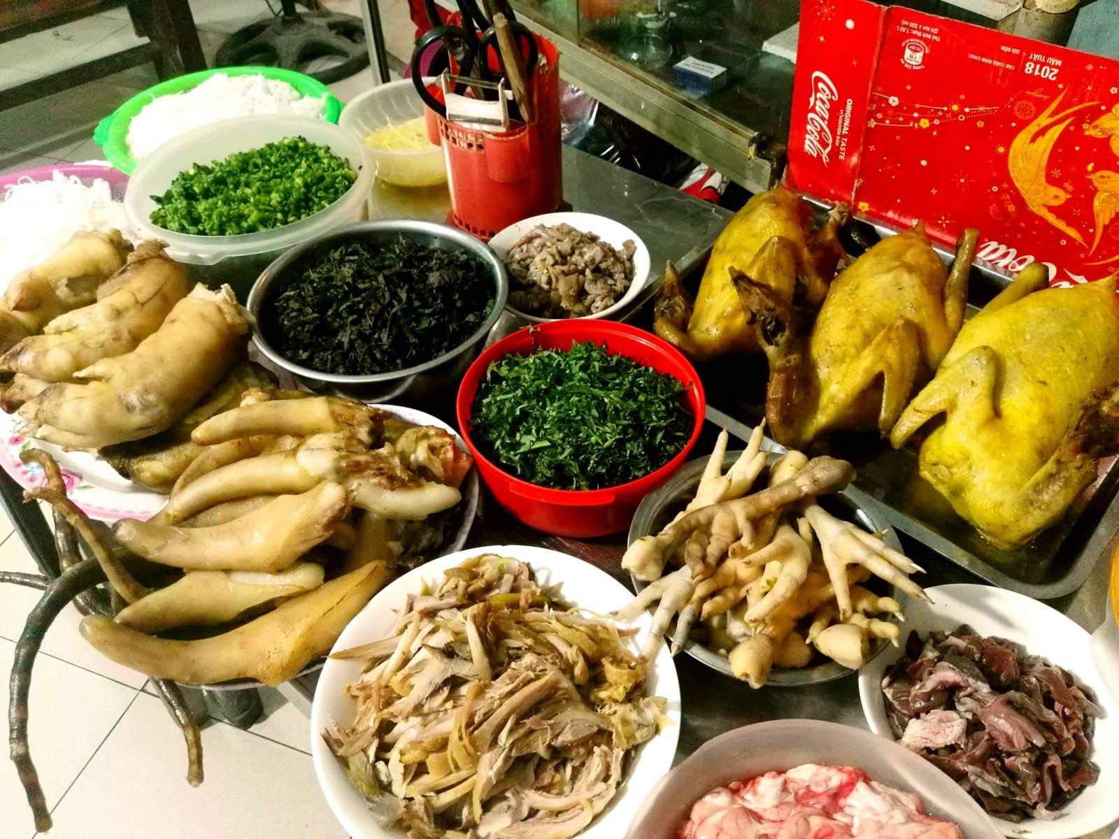 Nabídka jídla ve Vietnamu