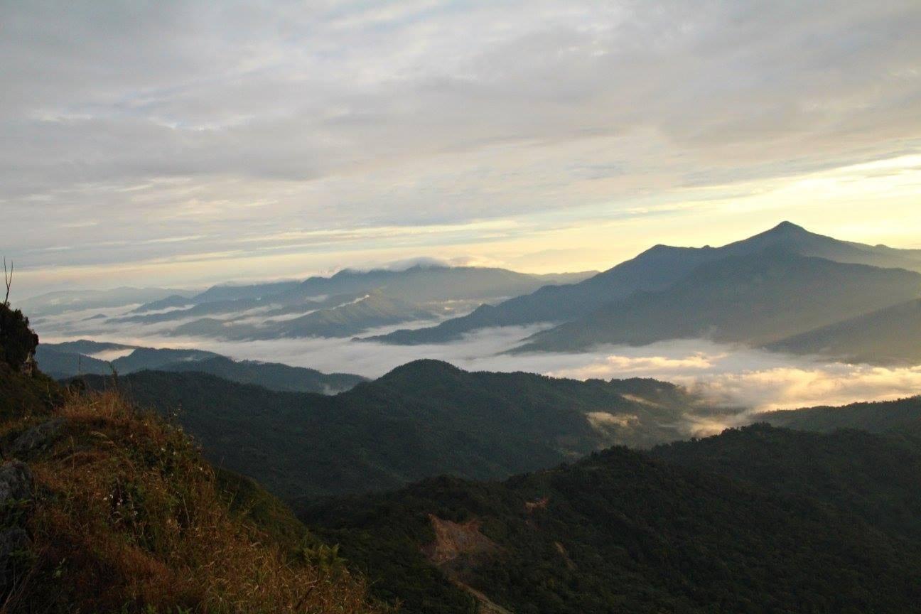 Mekong z hory Doi Pha Tang na pomezí Thajska a Laosu