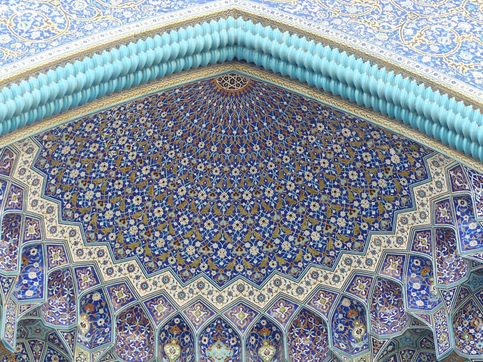 Pestré mozaiky na mešitách jsou poznávacím znamením Íránu