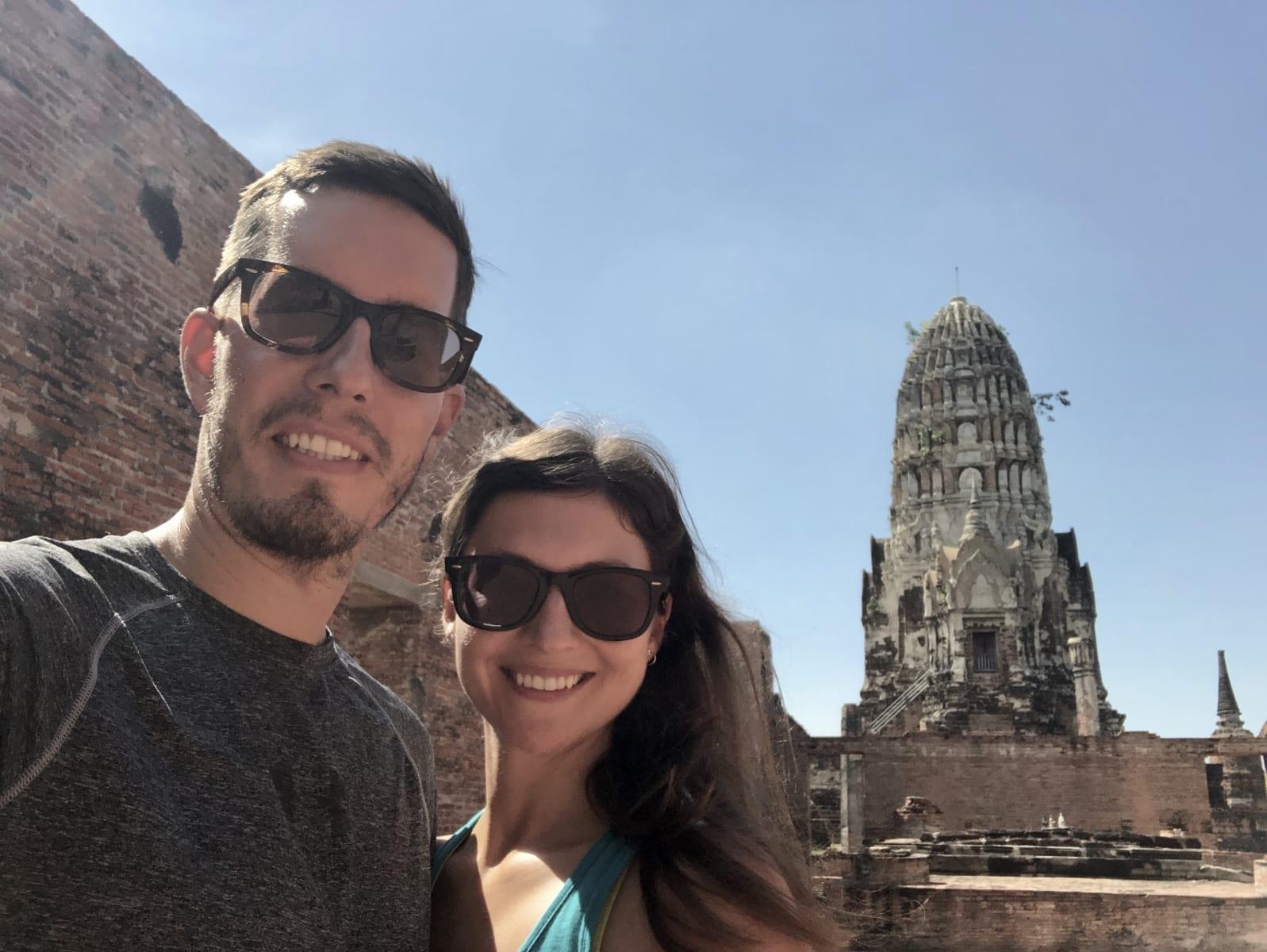 Starobylé chrámy v Ayutthaya, Thajsko