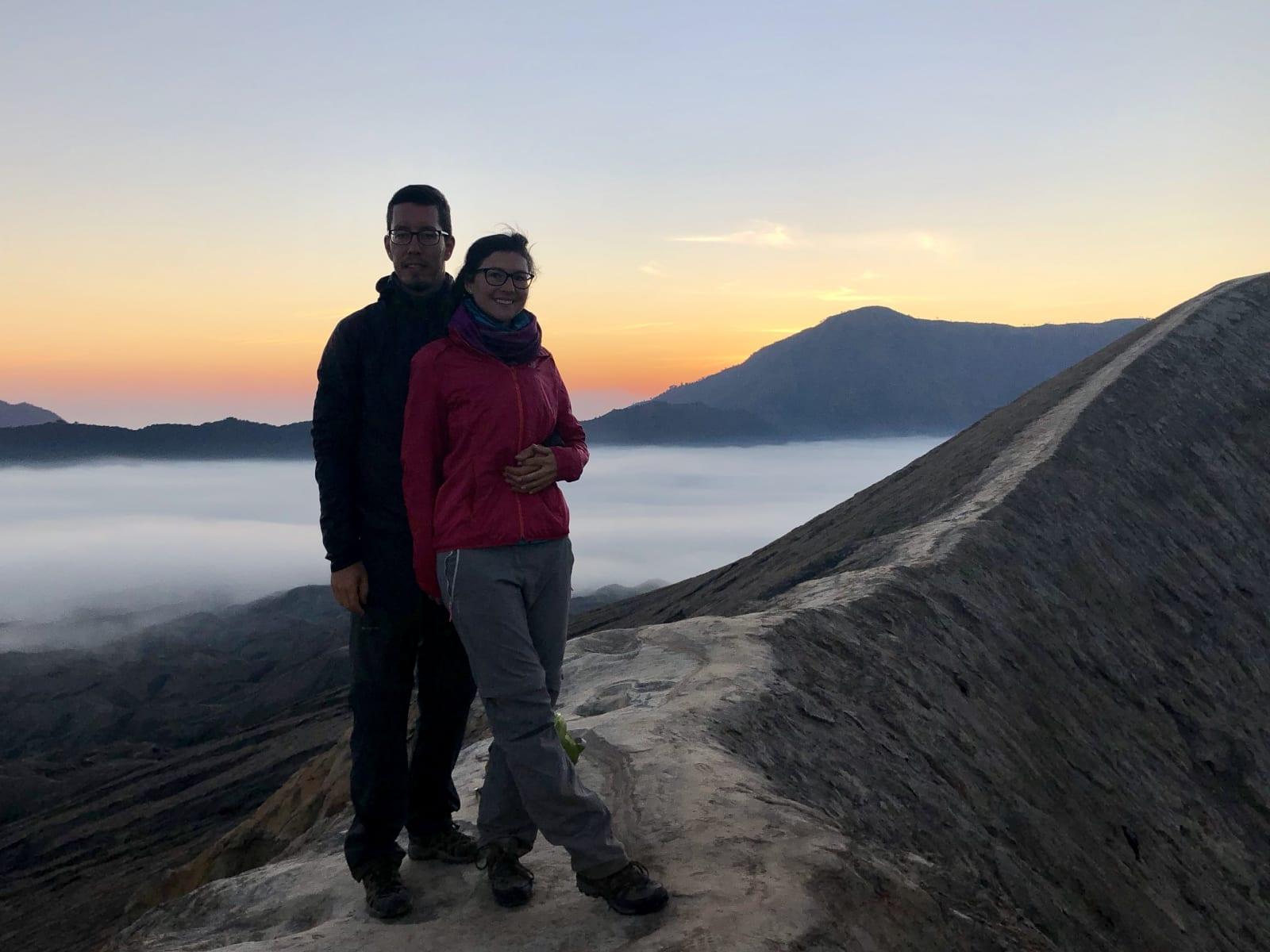 Východ slunce na sopce Bromo, Jáva, Indonésie