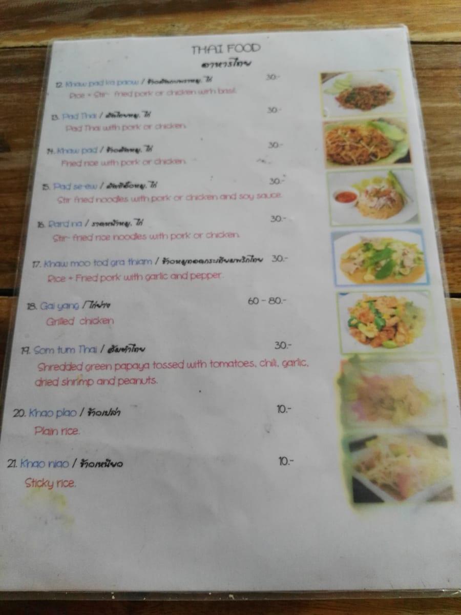 V téhle stálo jídlo 30 až 60 bahtů, Kanchanaburi, Thajsko