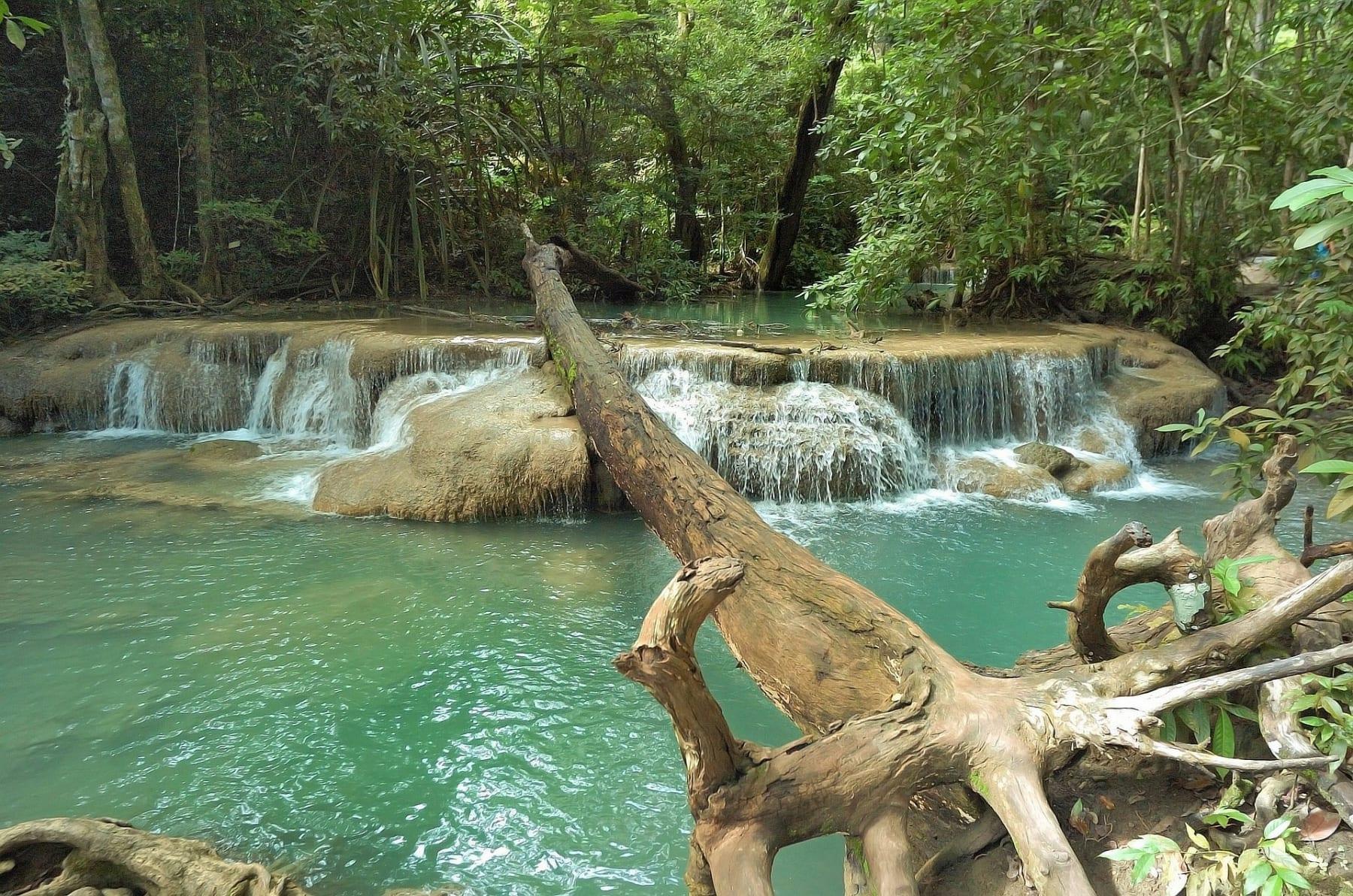 Erawan waterfall, Kanchanaburi, Thajsko