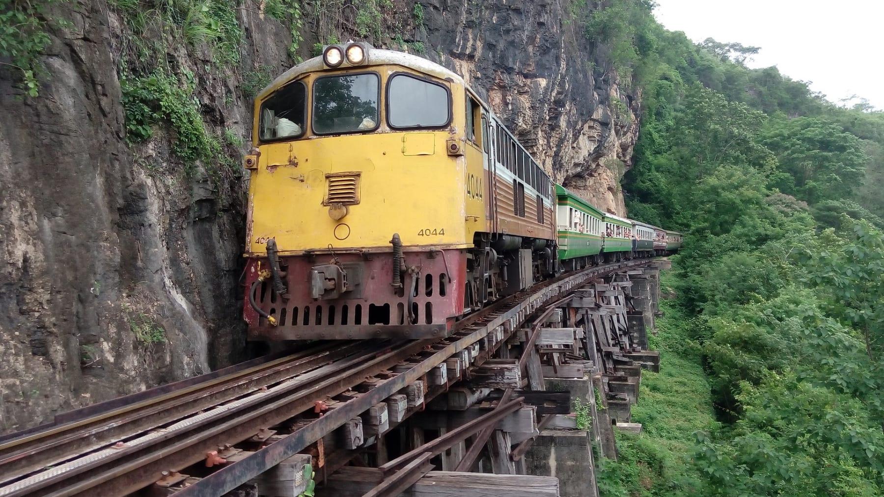 Death Railway, Kanchanaburi, Thajsko
