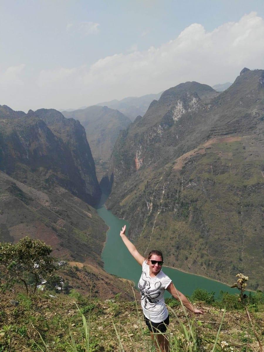 Přehrada Ma Pi Leng Pass, Ha Giang loop, Vietnam