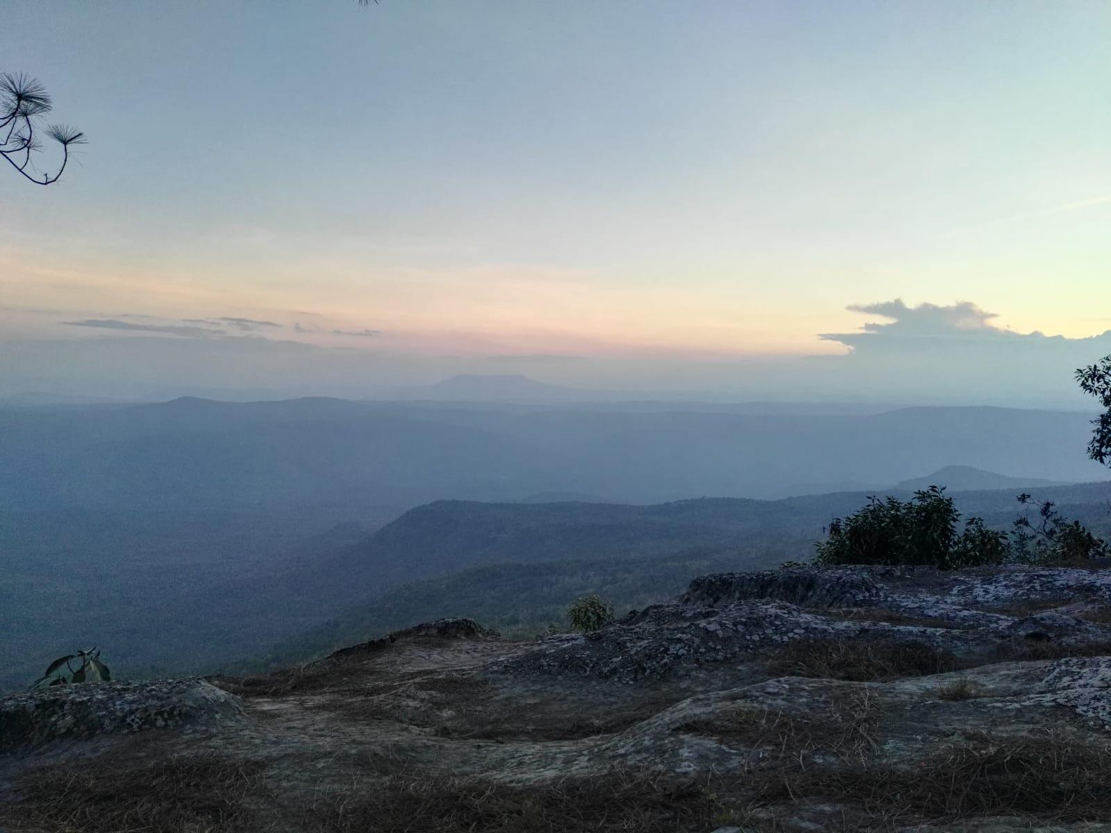 Západ slunce, Phu Kradueng, Loei, Thajsko