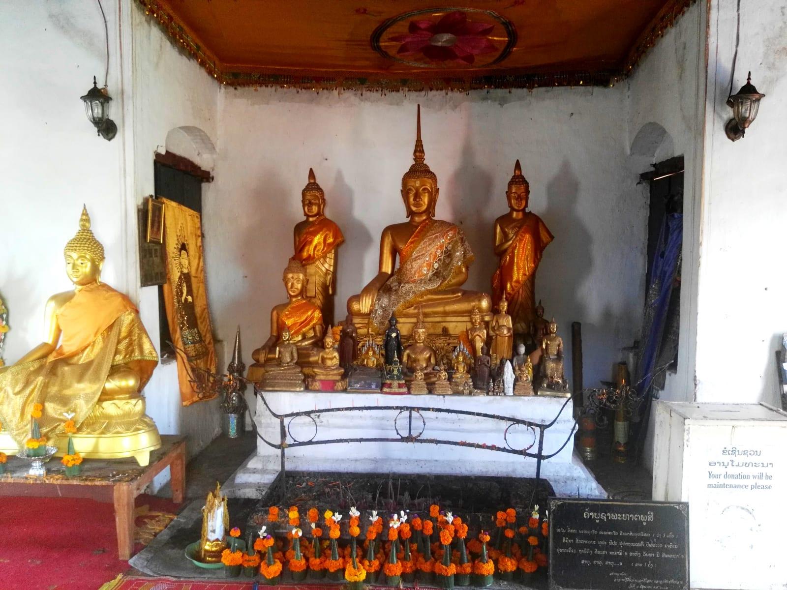 Chrám na Mount Phousi, Luang Prabang, Laos