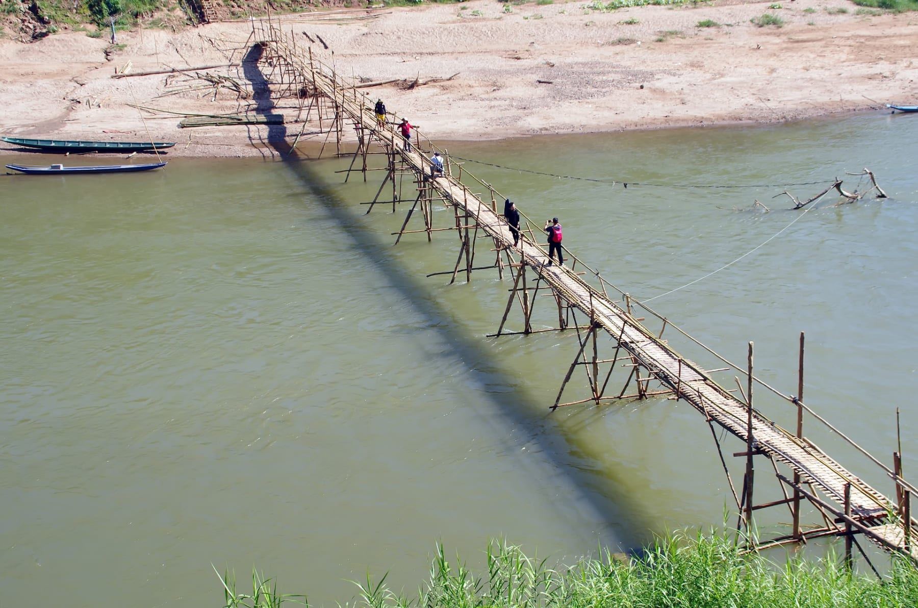 Bambusový most, Luang Prabang, Laos