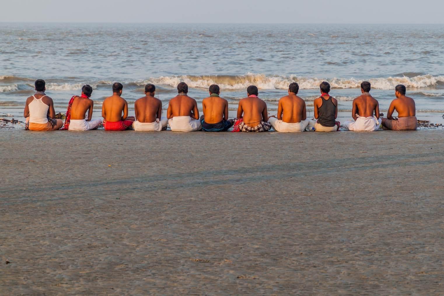 Hinduisté během festivalu Rash Mela, Bangladéš
