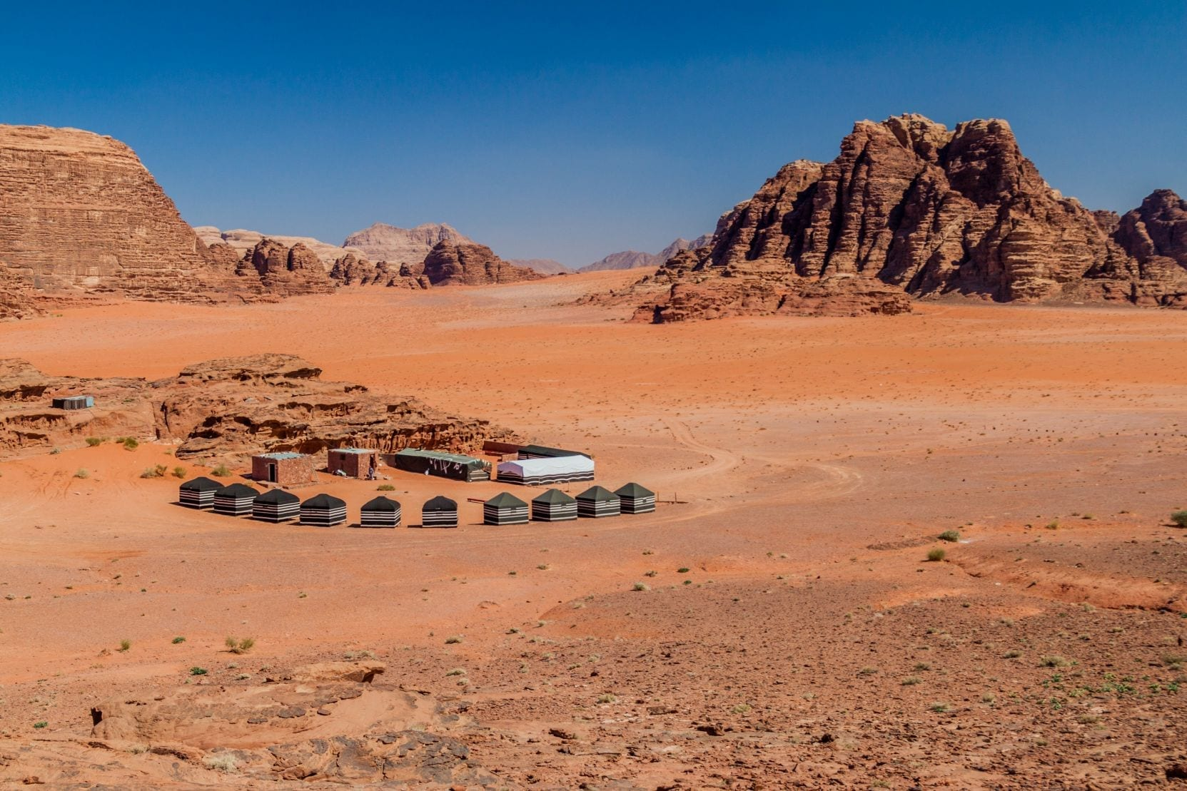 Poušť Wadi Rum, Jordánsko