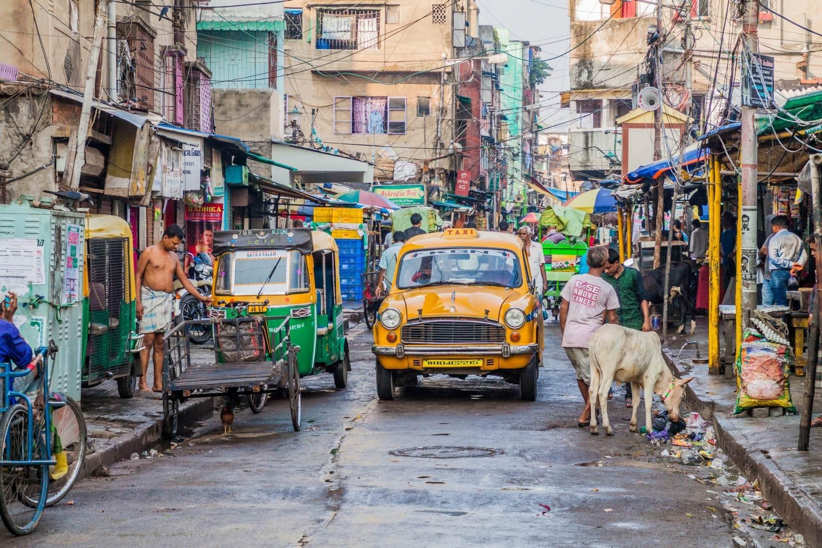 Ulice v Kalkatě, Indie