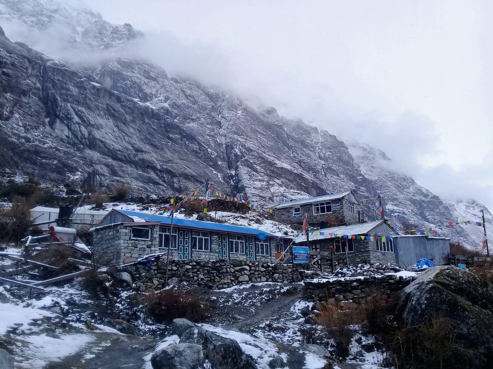 Jedno z ubytování, Nepál