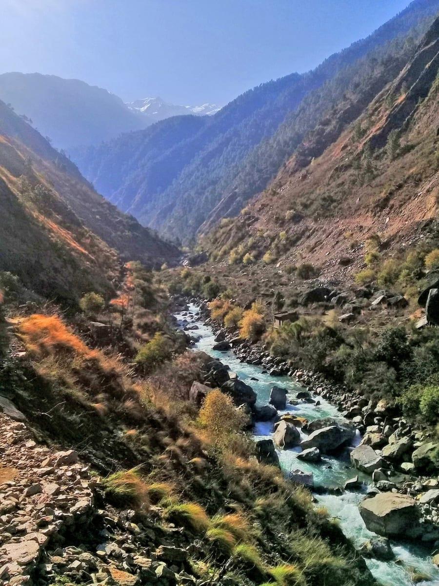 Ráno-v-Himalájích-Nepál