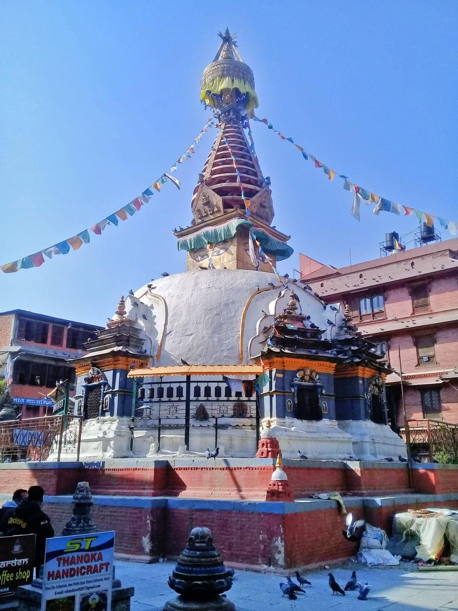 Stupa v Káthmándú, Nepál