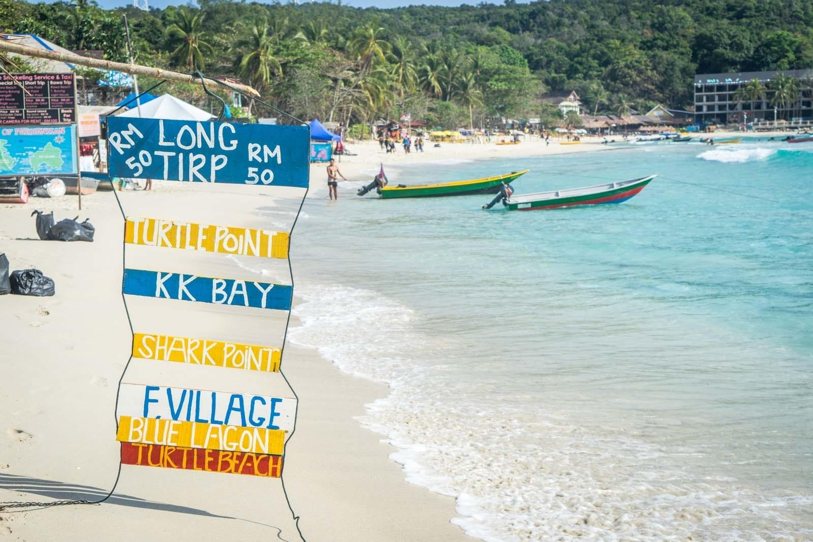 Long beach, Kecil, Perhentian islands, Malajsie