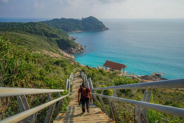 Vyhlídka na nejvyšším místě ostrova Kecil, Perhentian islands, Malajsie