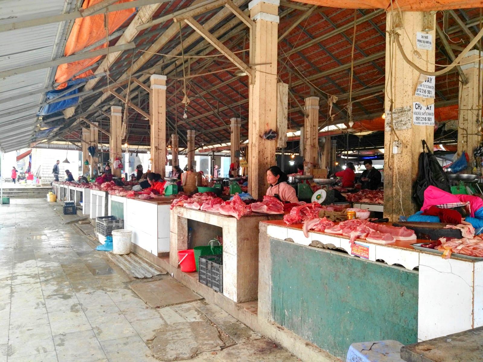 Tržnice v Sapě, Vietnam