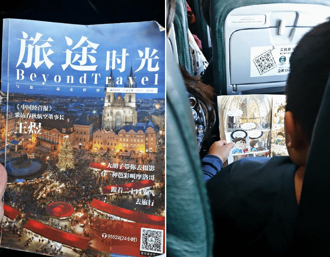 V letadlech mají i časopisy o Praze