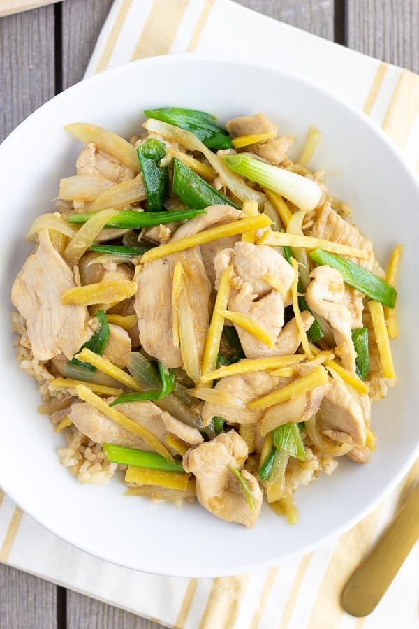 Chicken with ginger