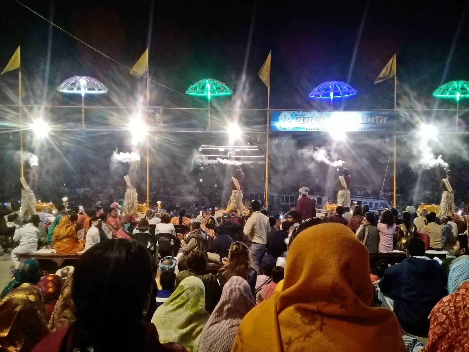 Ganga Aarti show, Varanásí